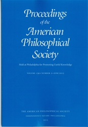 Proceedings, American Philosophical Society (Vol. 159, No. 2)