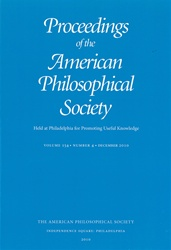 Proceedings, American Philosophical Society (Vol. 154, No. 4)