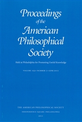 Proceedings, American Philosophical Society (Vol. 155, No. 2)